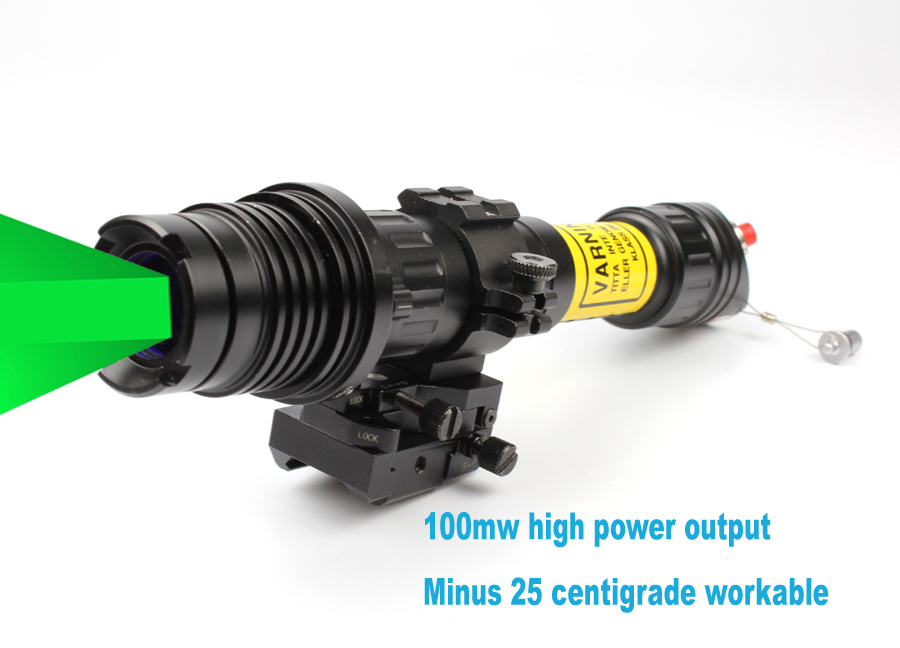 Suzero Zoomable Professional Long Distance nigh vision riflescope solution of 100mw Green Laser Designator (ES-LS-KS300)