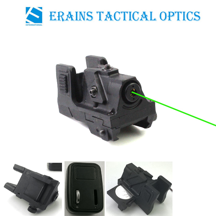New Unique Design Subcompact Ak47 Standable Rechargeable Pistol Green Laser Sight (ES-LS-HY05G)