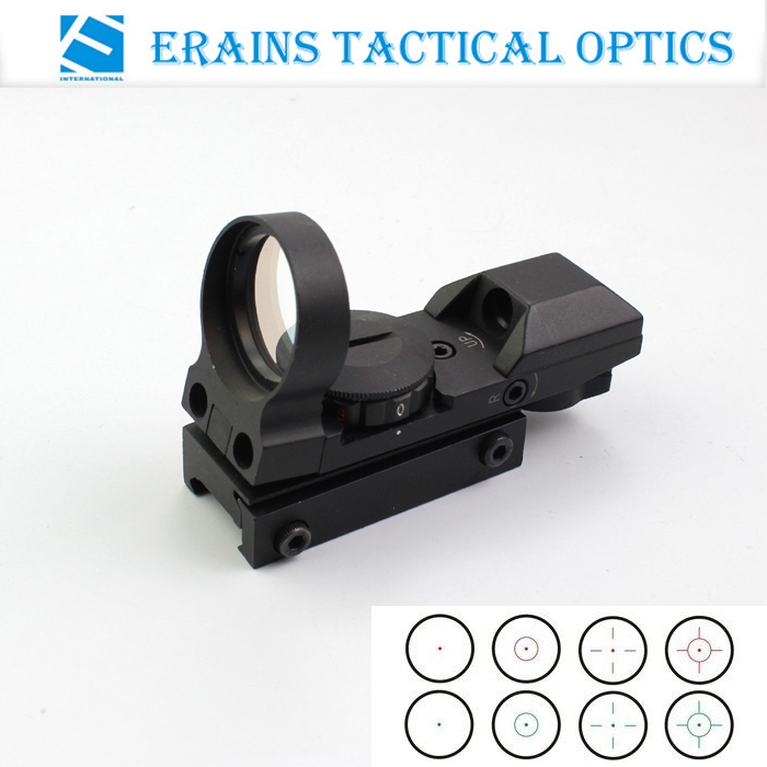 Tactical Reflex Red Dot Sight with Variable 4 reticle shapes
