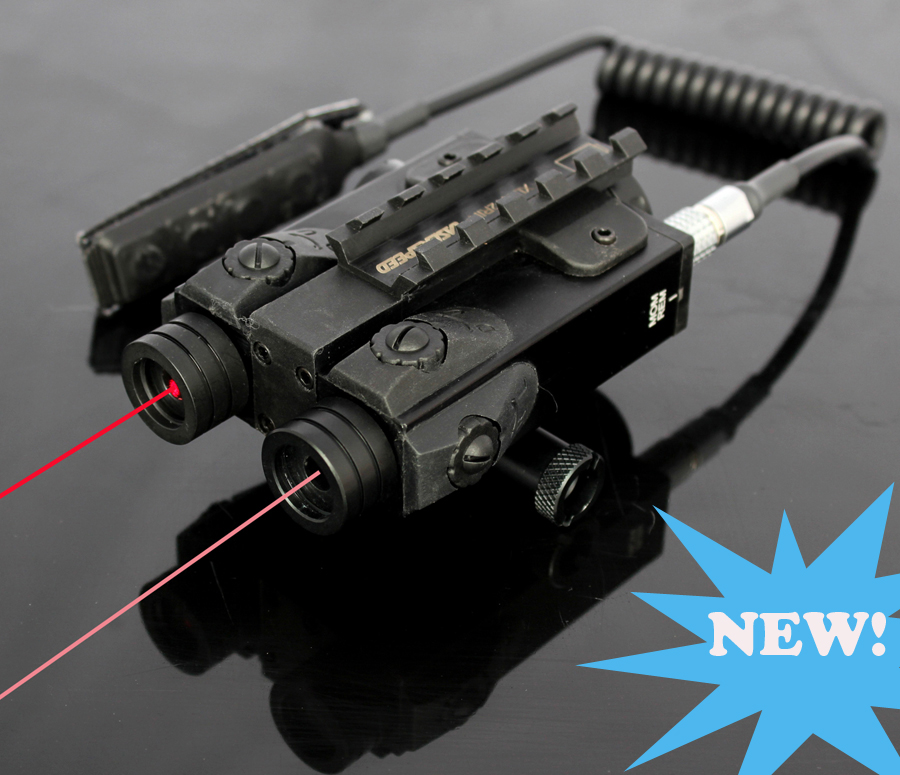 New Military standard Tactical Invisible IR laser scope and Red laser sight combo
