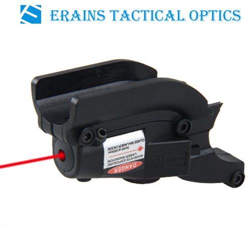 Tactical Red Dot 635nm Compact Rail Laser Sight Weaver for Gun Rifle Pistol (ES-BR-LS17R)