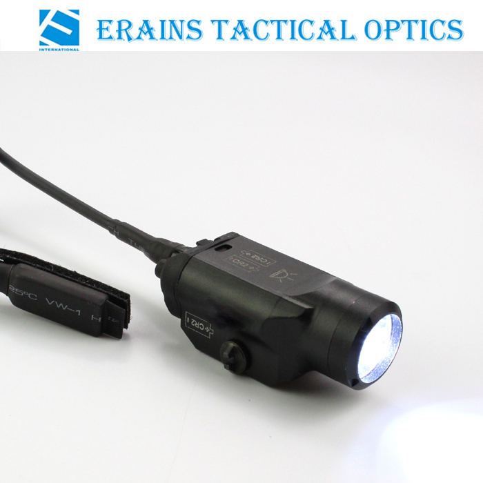 Erains TAC Optics Tactical Compact 225 Lumens Pistol Weapon LED Flashlight /light