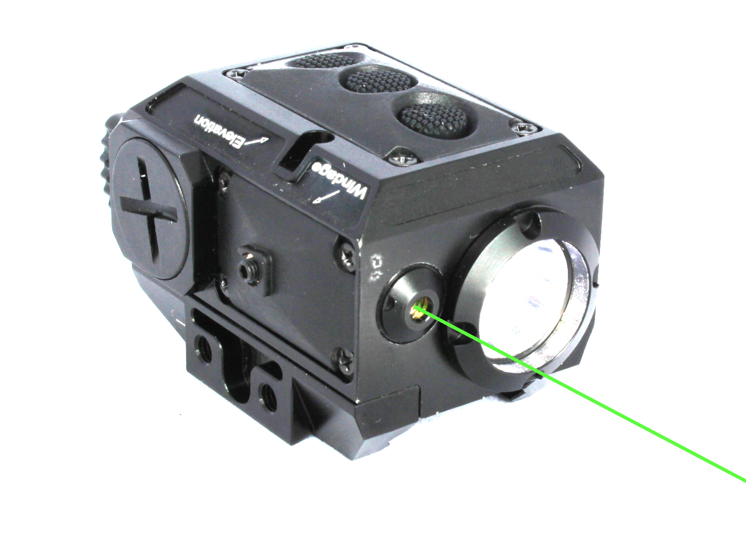 New compact square tactical green laser sight and strobe 200 lumen CREE Q5 LED light combo (FDA certified)