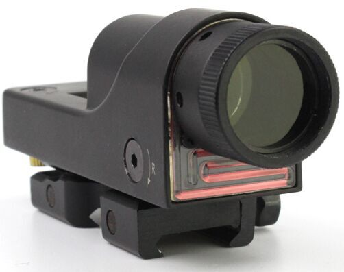 Tactical red dot sight with light sensor control switch