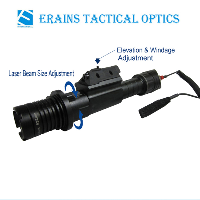 Subzero Zoomable 50mw Green Laser Designator with 5mw IR Laser Sight Combo
