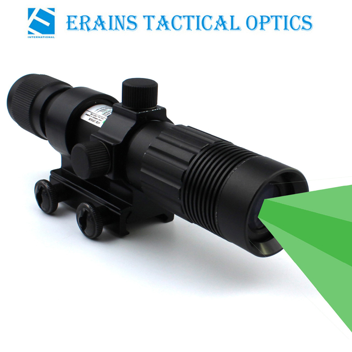 Night Vision Riflescope Solution Green Dazzling Laser Designator and Illuminator Flashlight Torch Sight with Wire Cable Switch and Scope Ring