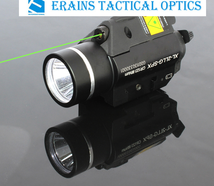 Quick Start Green Laser Sight and Strobe 225 Lumens CREE Q5 LED Light Combo (ES-XL-2LL-G)