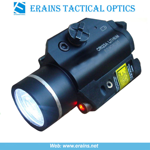 Strobe Function on Both Laser Sight Scope 225 Lumens LED Flashlight Combo (ES-XL-2LL-R)