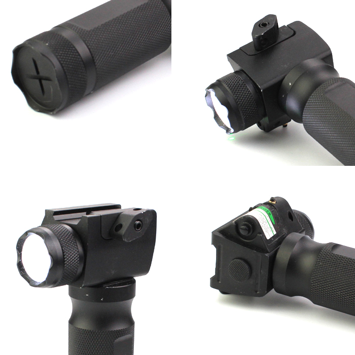 New Tactical Handgrip Green Laser Flashlight with Q5 250 Lumens LED Light Torch