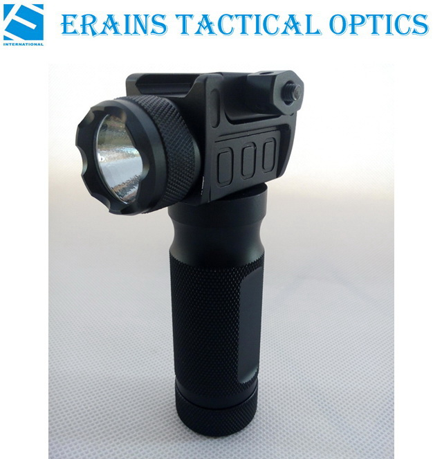Erains Tac Optics Tactical CREE Q5 200 Lumens Quick Detach Aluminum Grip & LED Light LED Flashlight