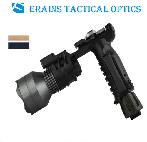 Erains Tac Optics Tactical 250 Lumens Dura Aluminum Grip Torch Flashlight with Reading Lamp