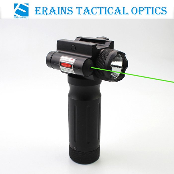 Tactical Foregrip 750 Lumens LED Flashlight with Green Laser