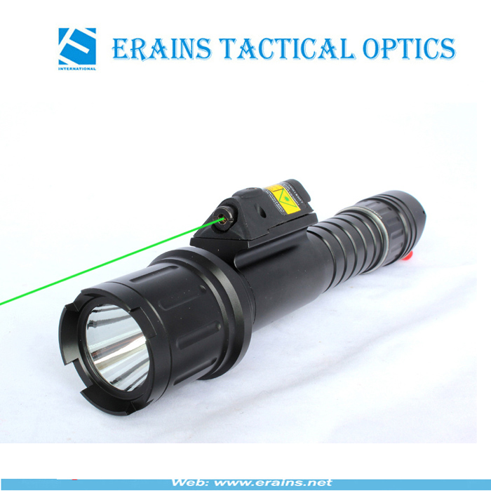 actical Quick Start Green Laser Sight and Strobe 500 Lumens CREE T6 LED Flashlight Combo