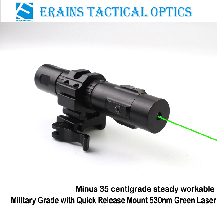 Military Heavy Duty QD Mount Tactical Minus 35 Degre Steady Working 520nm Green Laser Sight (ES-LS-HY06G-ML)