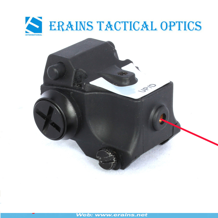 Super Compact Tactical Red Laser Sight and Strobe 80 Lumens CREE Q5 LED Light Combo (FDA certified)