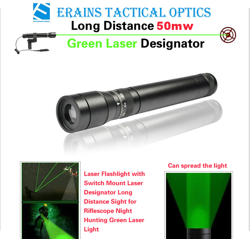 New Long Distance 50mw Green Laser Designator / Sight (ES-G25-M)