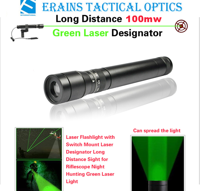 New Long Distance 100mw Green Laser Designator / Sight (ES-G25-H)