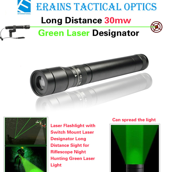New Long Distance 30mw Green Laser Designator / Sight (ES-G25-L)