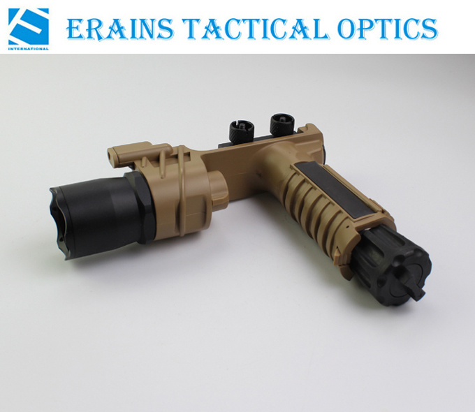 Erains Tac Optics Tactical 550 Lumens Screw Detach Dura Aluminum Handgrip & LED Light LED Flashlight Torch with Reading Lamps