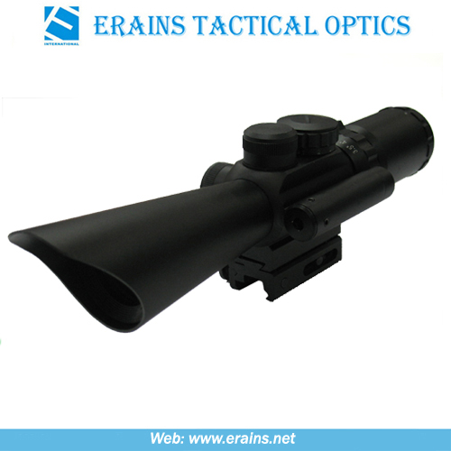 Compact 3.5-10x40 Rifle Scope Red Green Mil-DOT Reticle (M8)