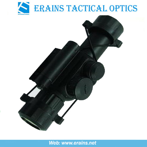 Compact 4x25 Rifle Scope Red Green Mil-DOT Reticle (M6)