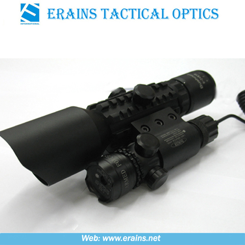 Tactical 3-10x42+G Rifle Scope Red Green Mil-DOT Reticle (M9A)