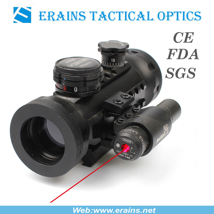 Compact Red Green DOT Scope With Red Laser Sight Attached (ES-RD-YH601+R)