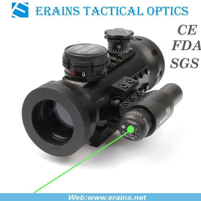 Compact Red and Green DOT Sight With Green Laser Sight (ES-RD-YH601+G)