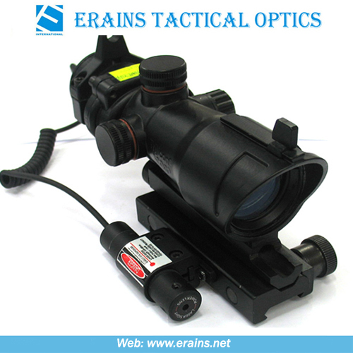 Trijicon Style Combat Sight Scope with Mini Red Laser Sight Attached (HD-2+JG-11)