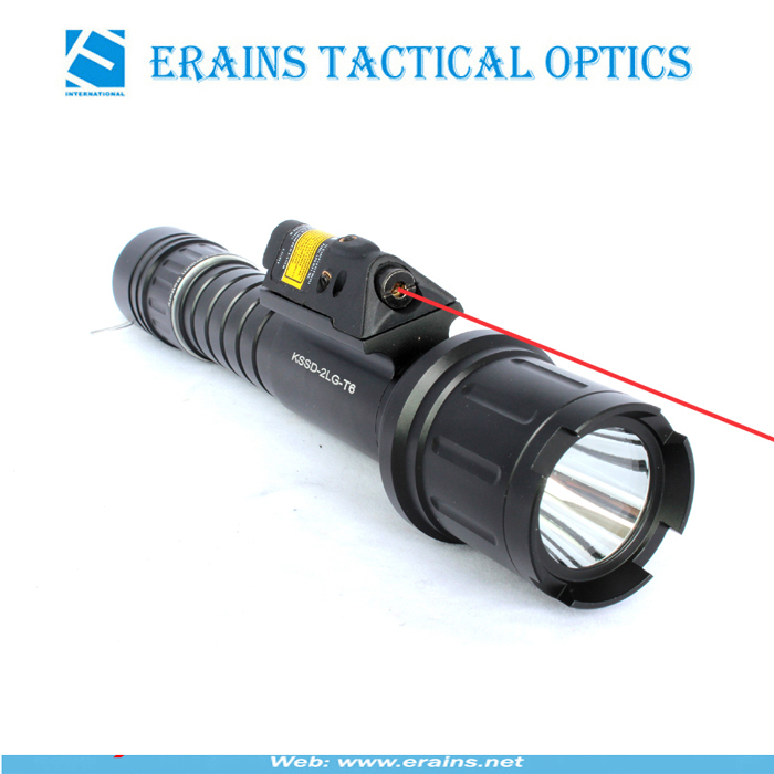 Tactical quick start red laser sight and strobe 500 lumen CREE T6 LED light combo