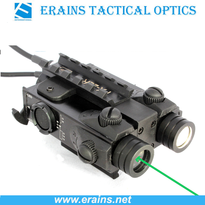 New Military Standard Tactical LED Light with Green Laser Sight Combo