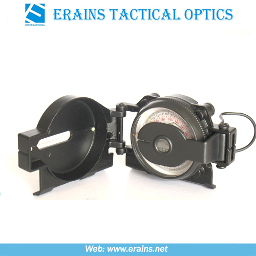 Marching lensatic compass and army compass or military compass in aluminium material