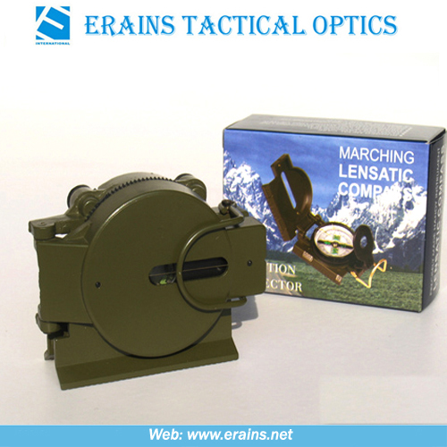 Plastic Marching Lensatic Compass for hiking or army use