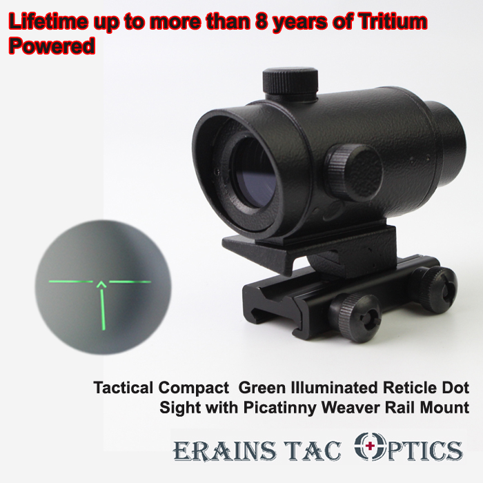 More Than 8 Years Tritium Power Illuminating Reticle Weaver Rail Tactical Red DOT Sight