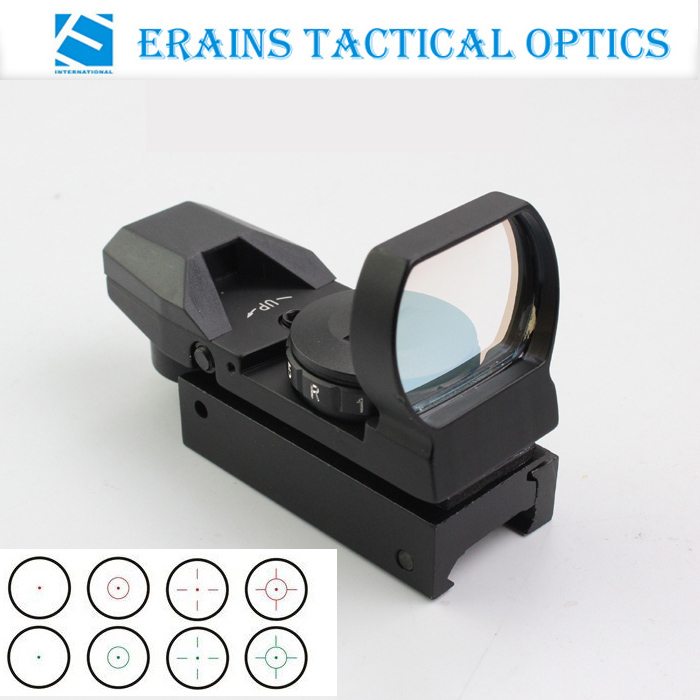 Erains Tactical Optics Combat Military 1x24x33 Multi Reticle Reflexible Sight Red Dot Scope with Weaver-Picatinny